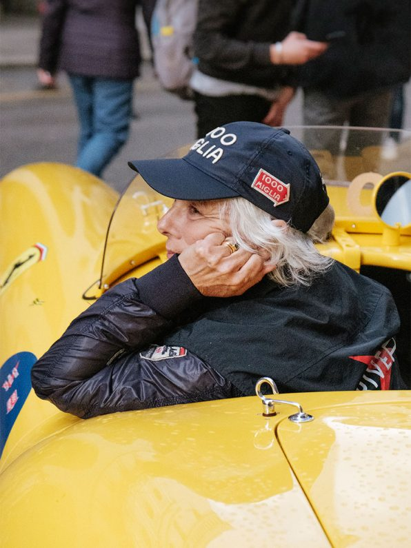 A women at the Mille Miglia, 2019, Italia