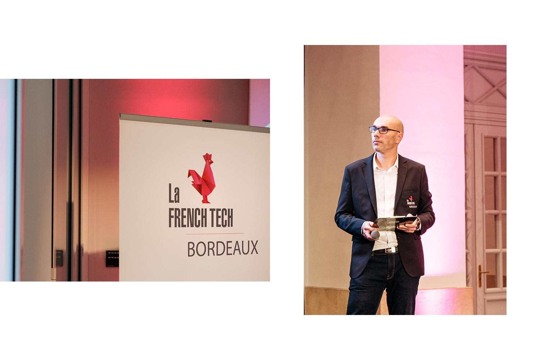 Directeur French Tech Bordeaux Philippe Metayer et le logo French Tech
