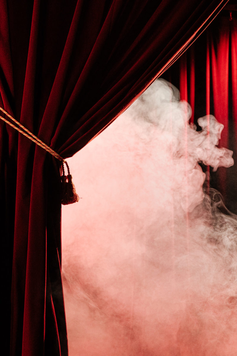 Rideau scène fumé